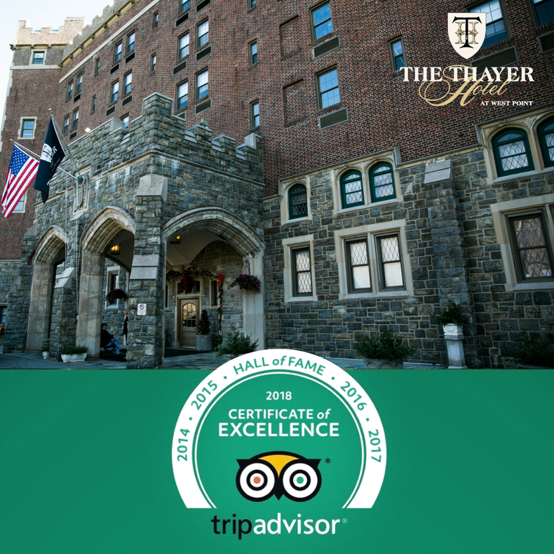 TripAdvisor 2018 Certificate of Excellence and Hall of Fame