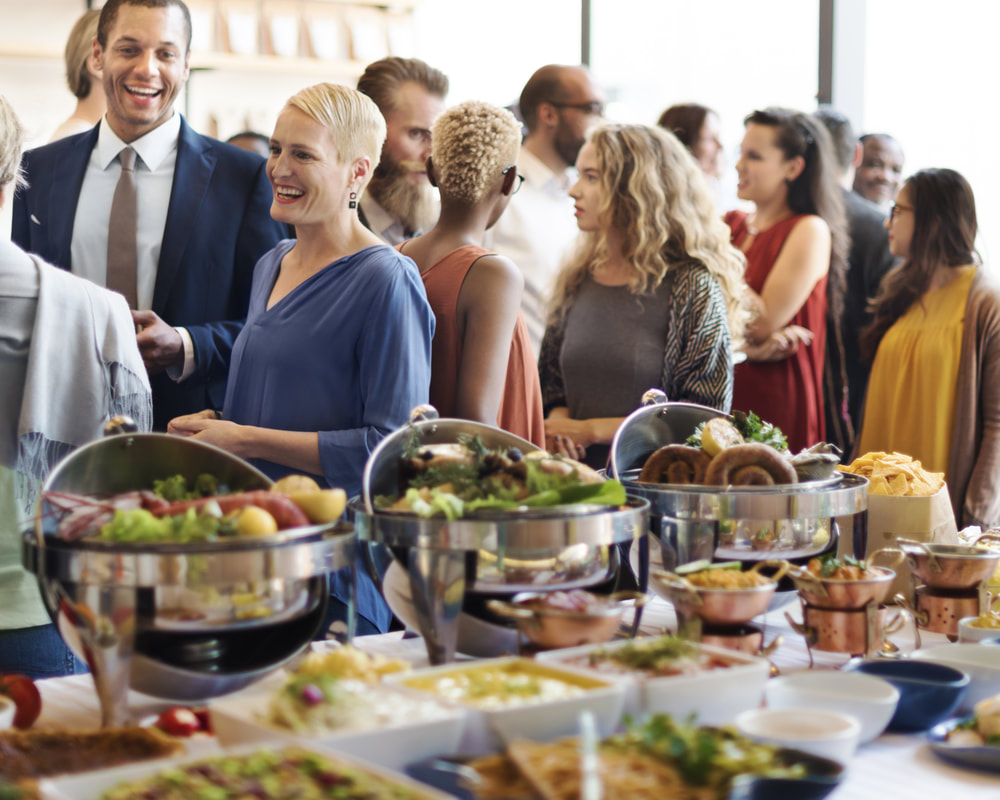 Social gathering and brunch buffet