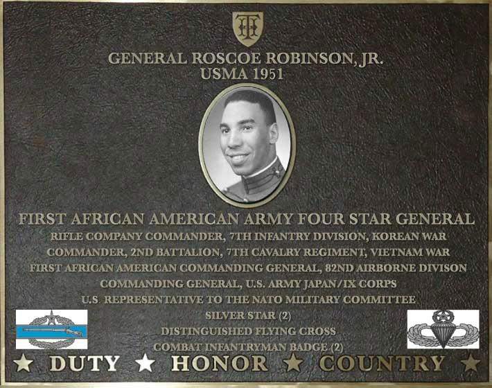 Dedication plaque in honor of General Roscoe Robinson Jr., USMA 1951